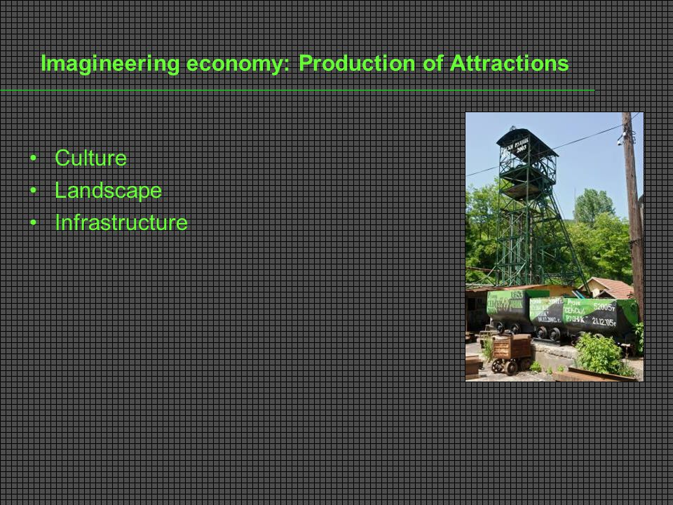 Imagineering economy: Production of Attractions Culture Landscape Infrastructure