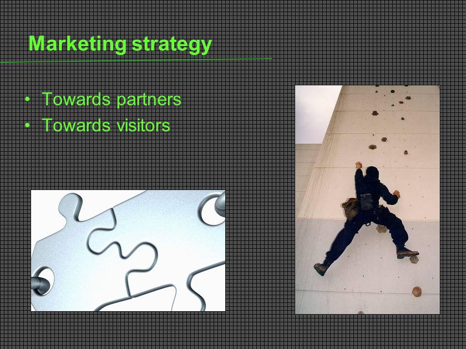 Marketing strategy Towards partners Towards visitors