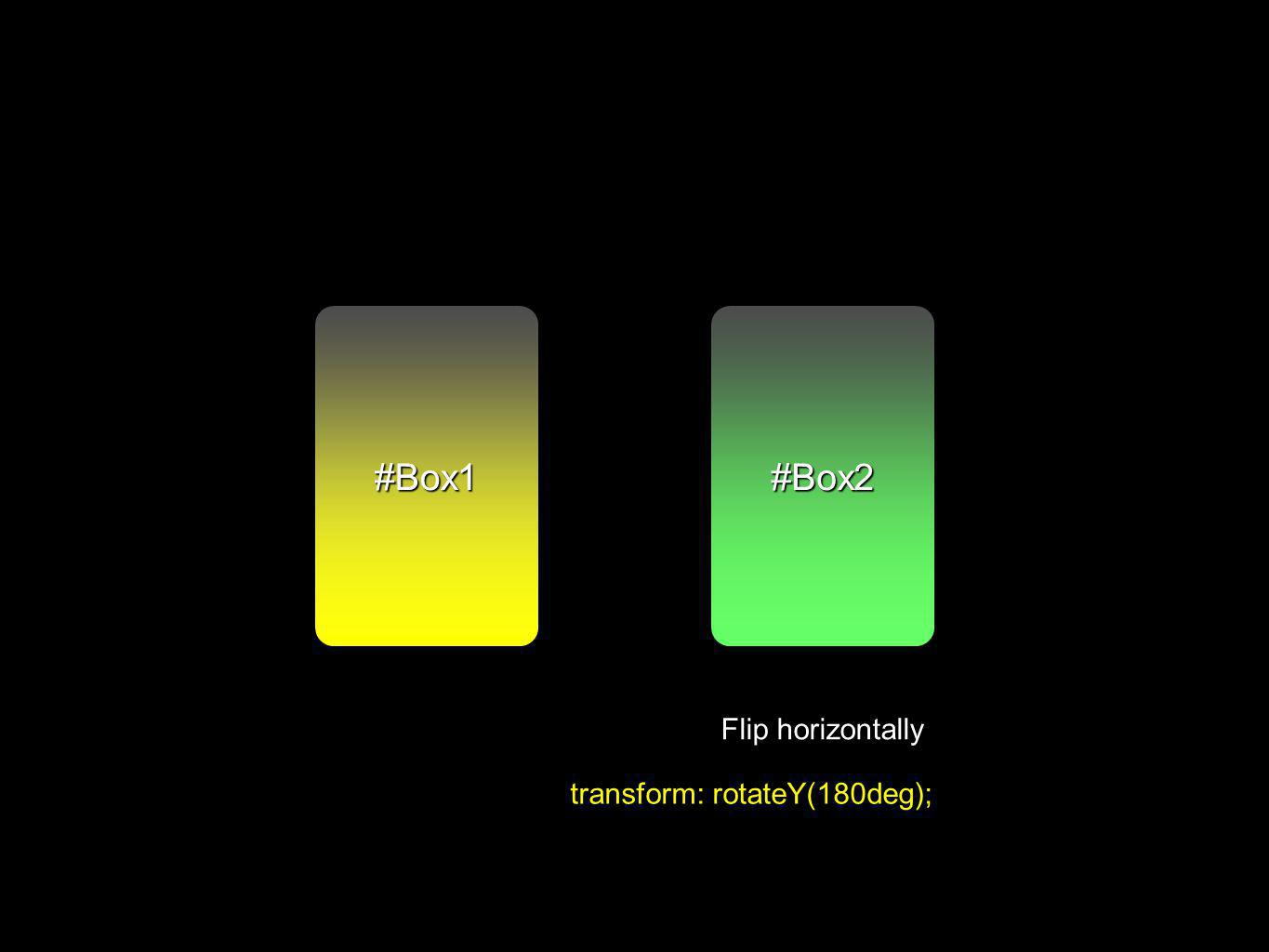 #Box2#Box1 Flip horizontally transform: rotateY(180deg);