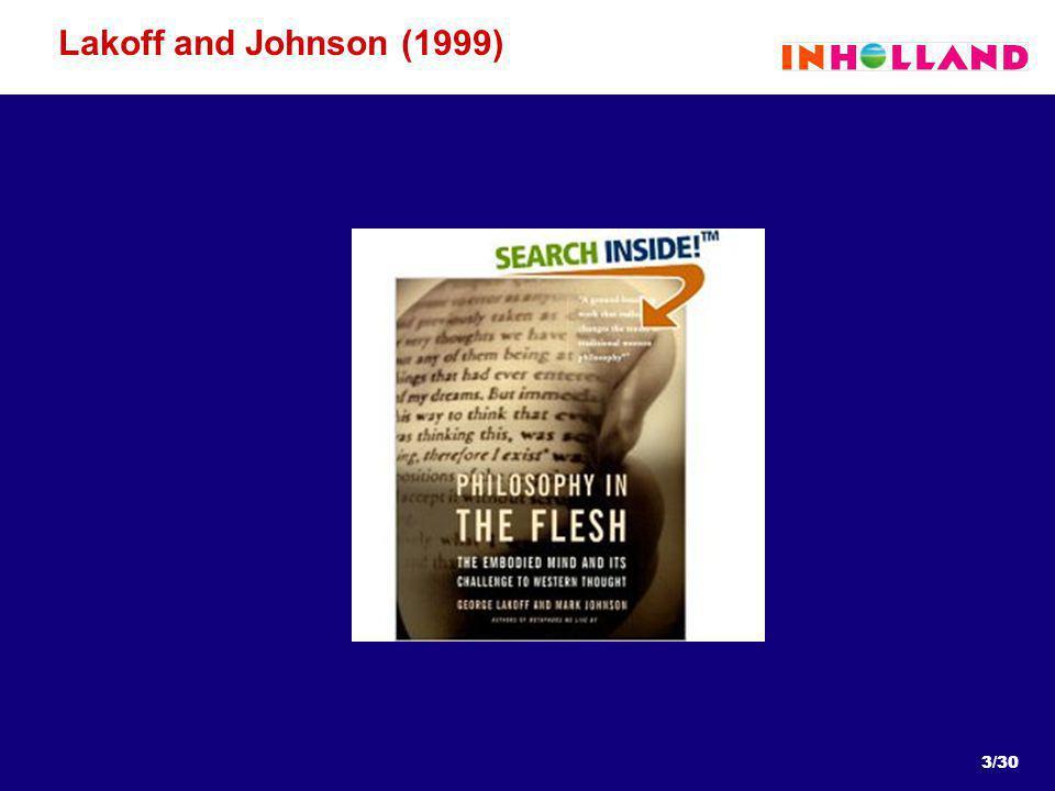 3/30 Lakoff and Johnson (1999)