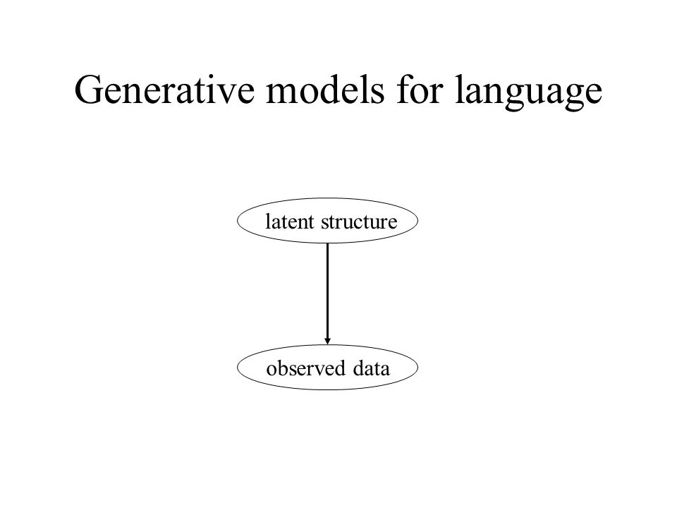 Generative models for language latent structure observed data