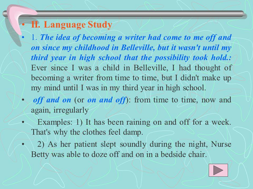 II. Language Study 1.