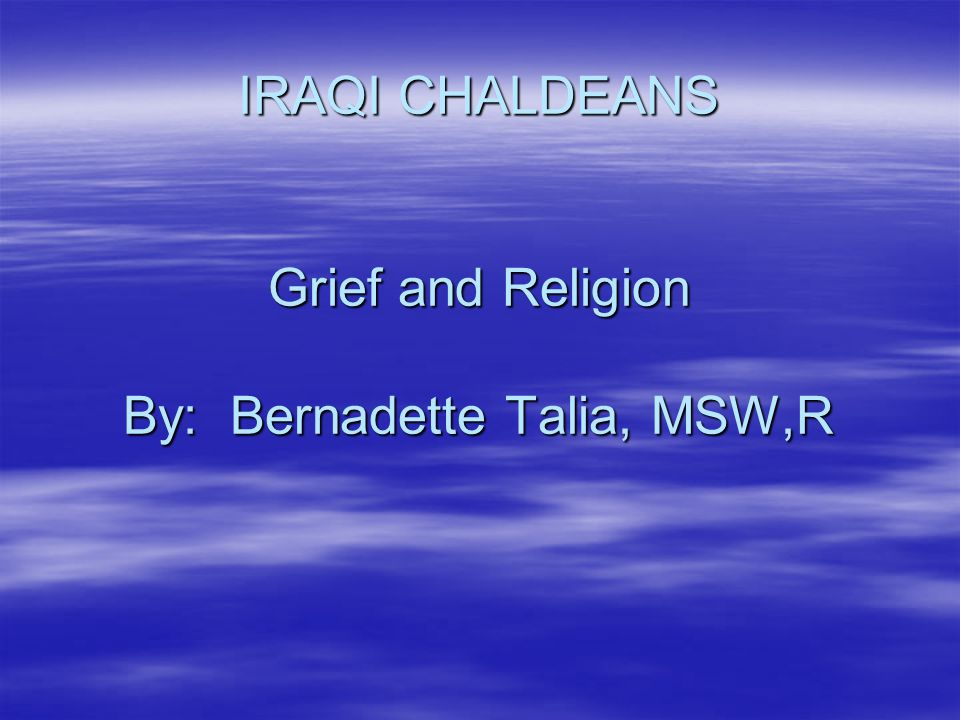 The Role of the Chaldean Priest As the church is the central institution for Chaldeans, the priest is the person to whom Chaldeans have traditionally turned to in times of happiness or troubles.