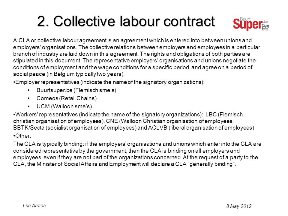 Employers organizations and workers organizations are represented in a commun Social Fund for the independant retail branche (SF 201 and SF 202.012).