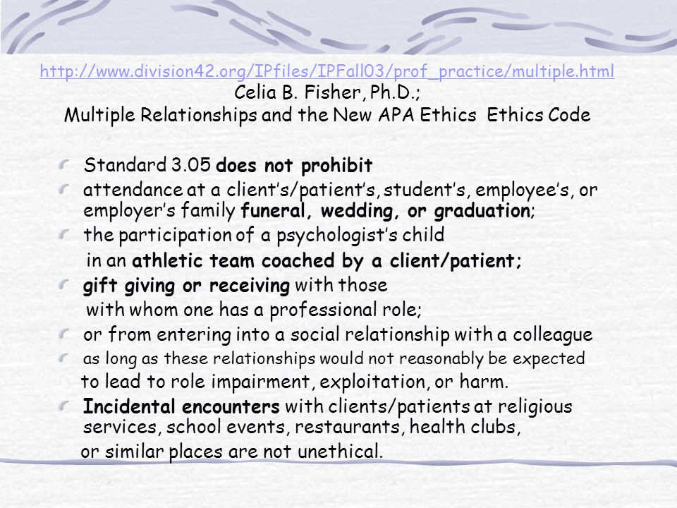 http://www.division42.org/IPfiles/IPFall03/prof_practice/multiple.html http://www.division42.org/IPfiles/IPFall03/prof_practice/multiple.html Celia B.