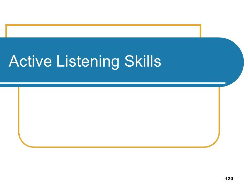 120 Active Listening Skills