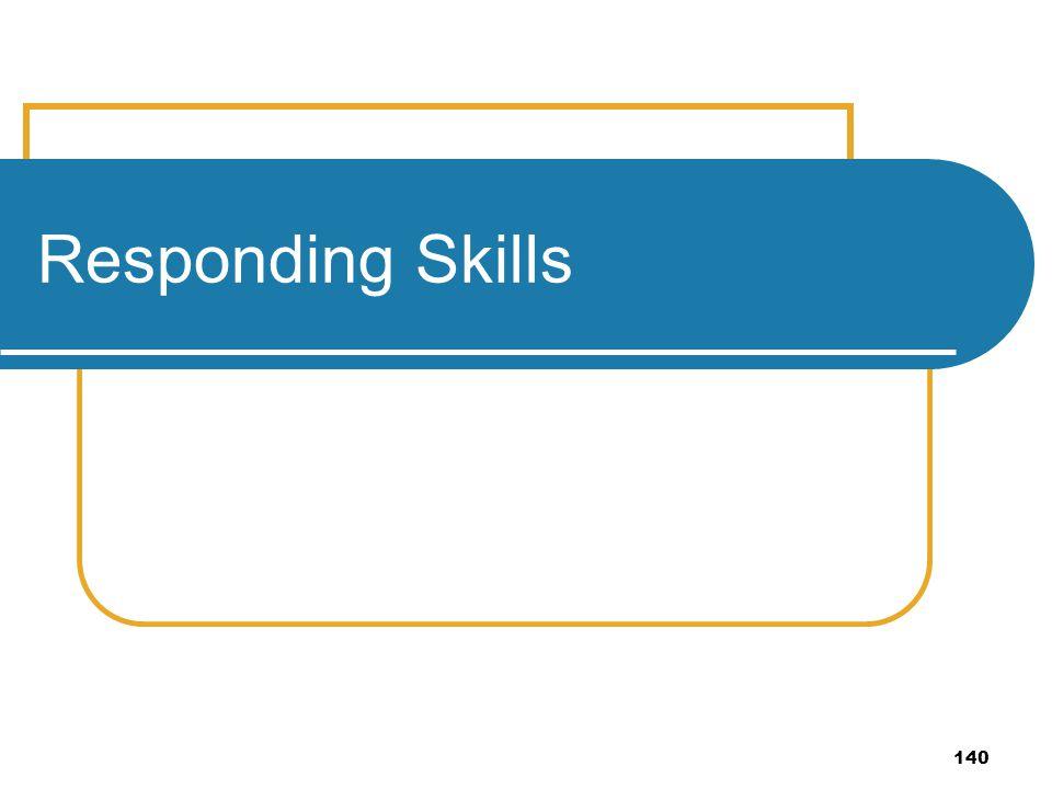 140 Responding Skills