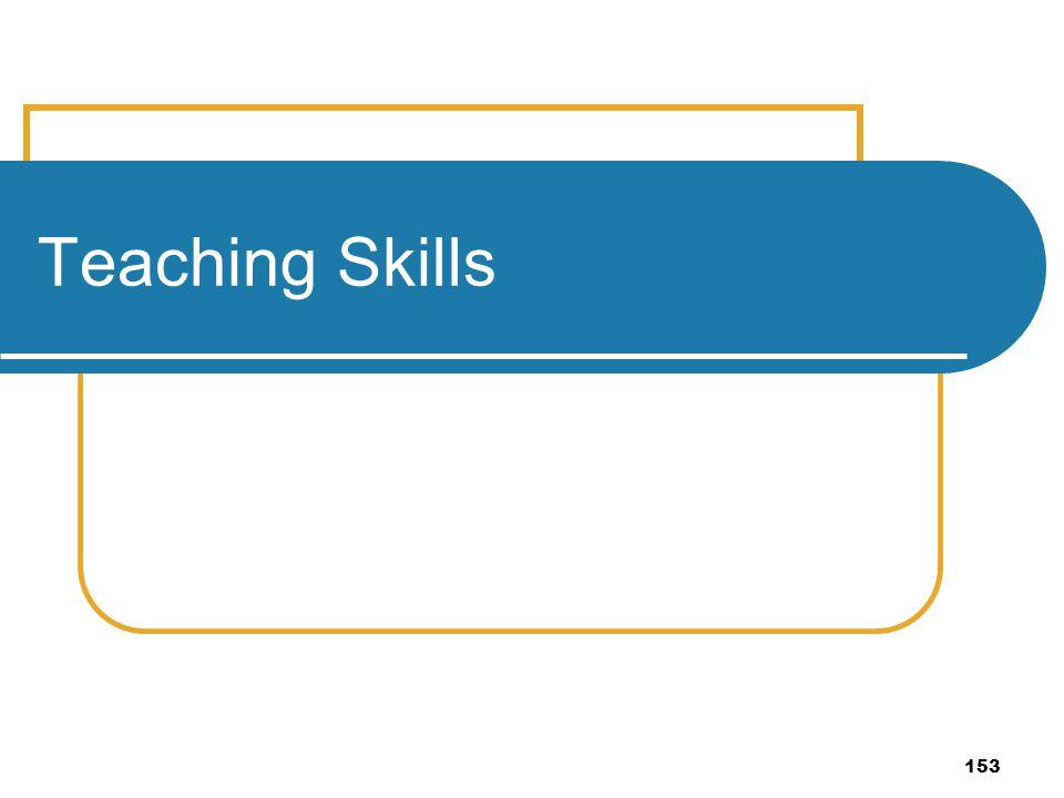 153 Teaching Skills