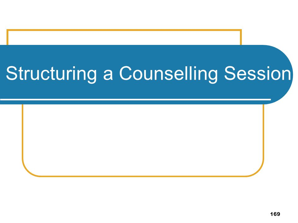 169 Structuring a Counselling Session