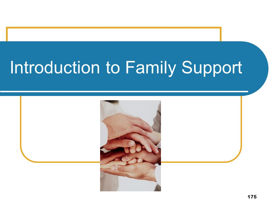 175 Introduction to Family Support