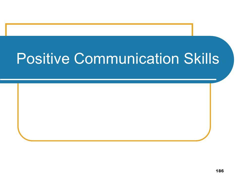 186 Positive Communication Skills