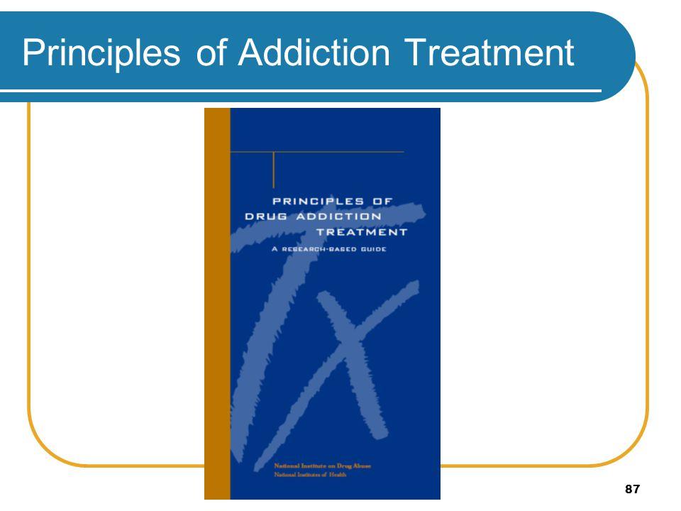 87 Principles of Addiction Treatment