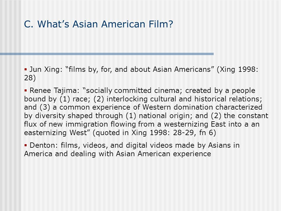 C.Whats Asian American Film.