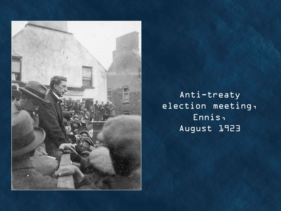 Anti-treaty election meeting, Ennis, August 1923