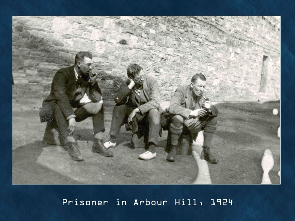 Prisoner in Arbour Hill, 1924