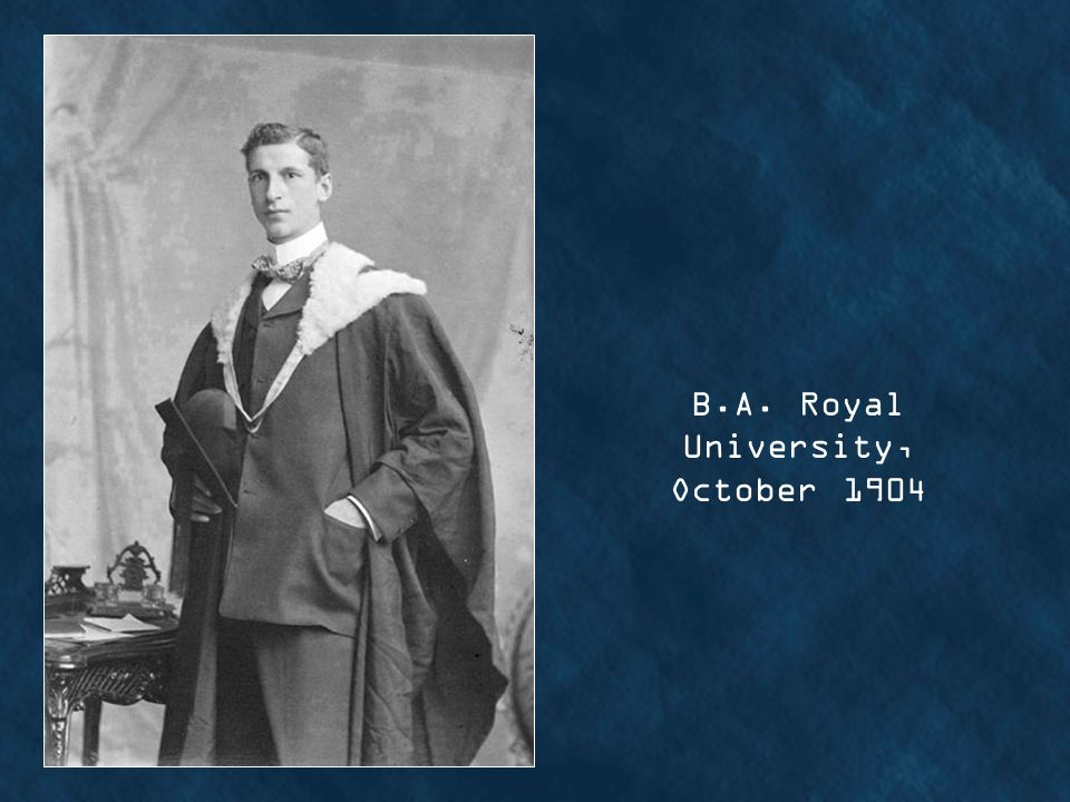 B.A. Royal University, October 1904