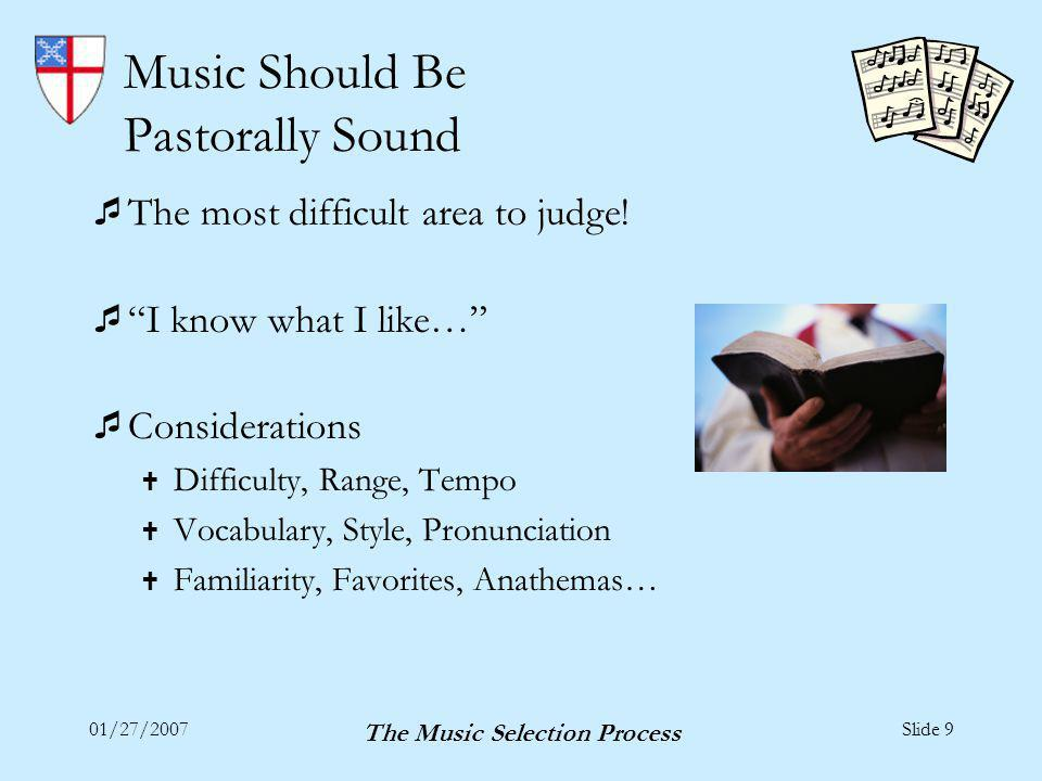 The Music Selection Process Thanks! And Enjoy Selecting…