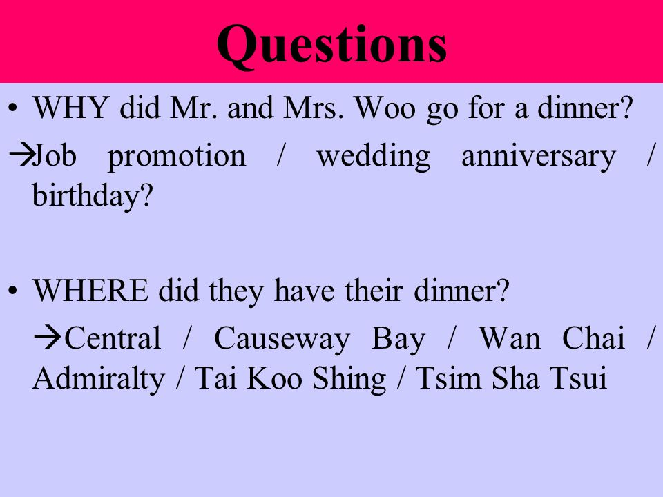 Questions WHY did they order such dishes.