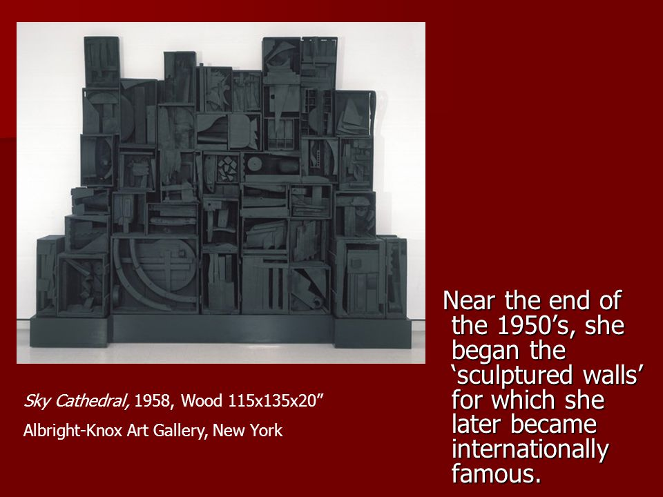 These were wall-like reliefs made up of many boxes and compartments into which abstract shapes are assembled together with commonplace objects such as chair legs, bits of balustrades, and other found objects.