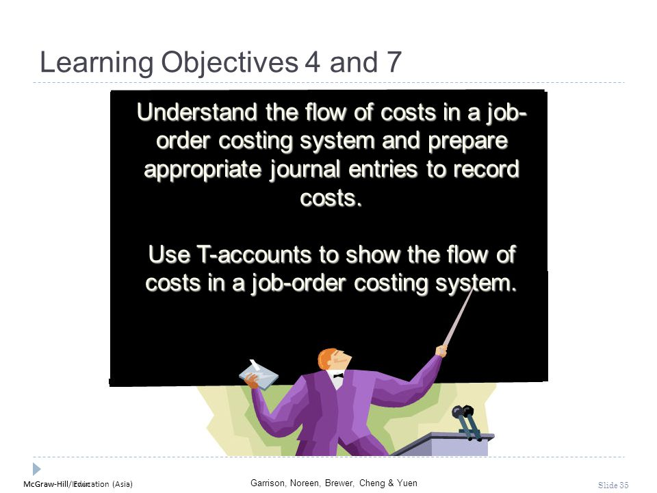 McGraw-Hill Education (Asia) Garrison, Noreen, Brewer, Cheng & Yuen McGraw-Hill/Irwin Slide 35 Learning Objectives 4 and 7 Understand the flow of cost