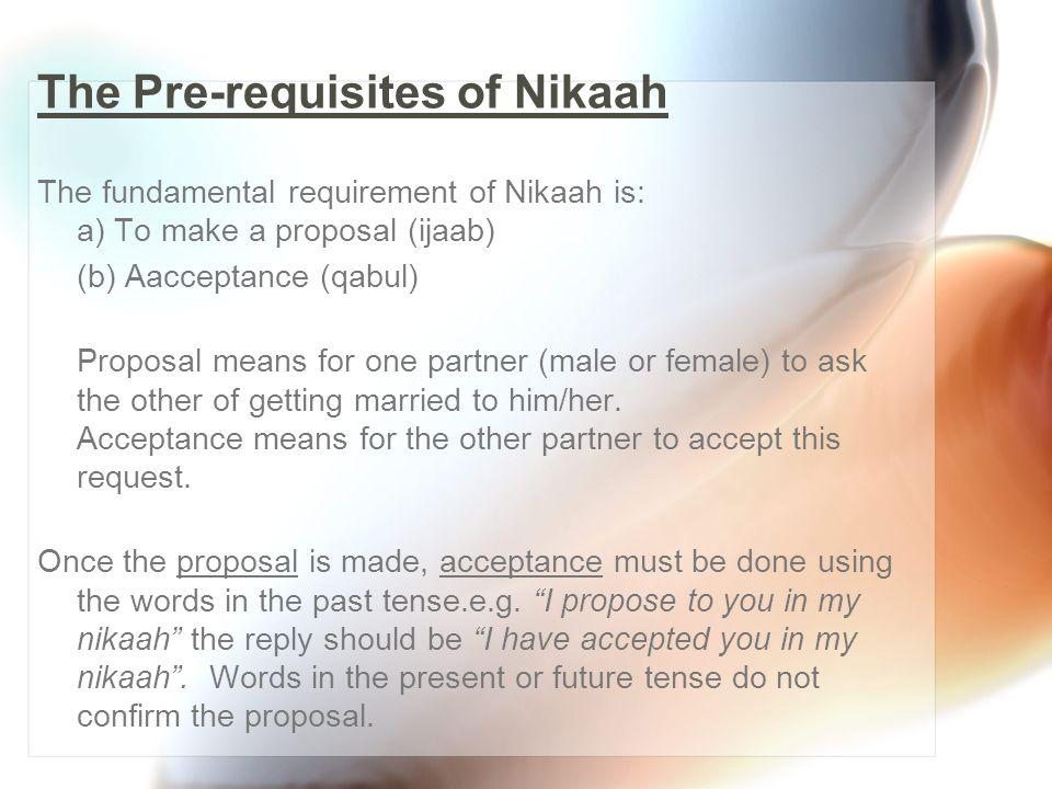 Components of an Islamic Nikaah 1.
