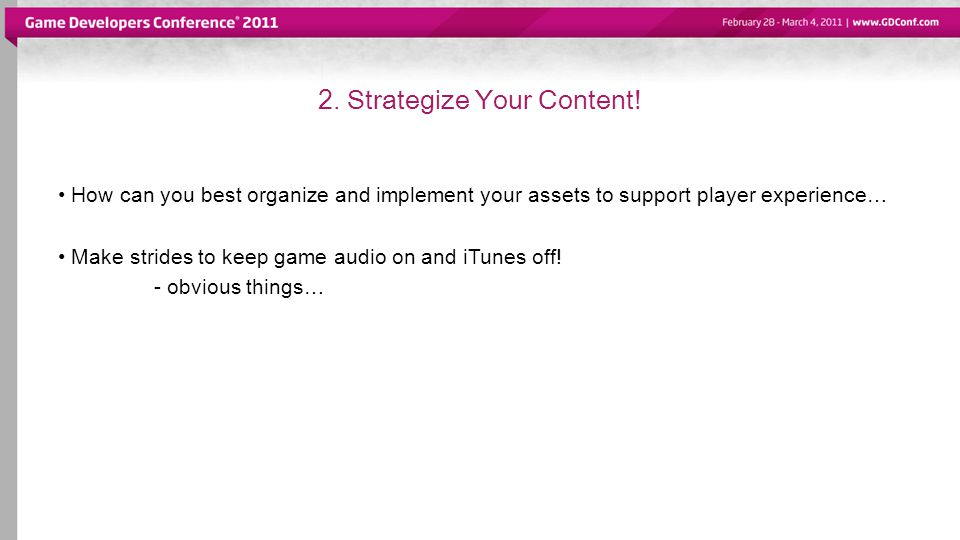 2. Strategize Your Content.