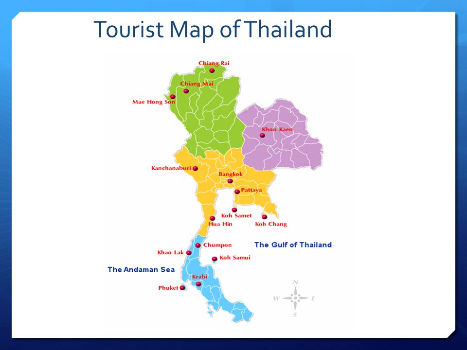 Tourist Map of Thailand