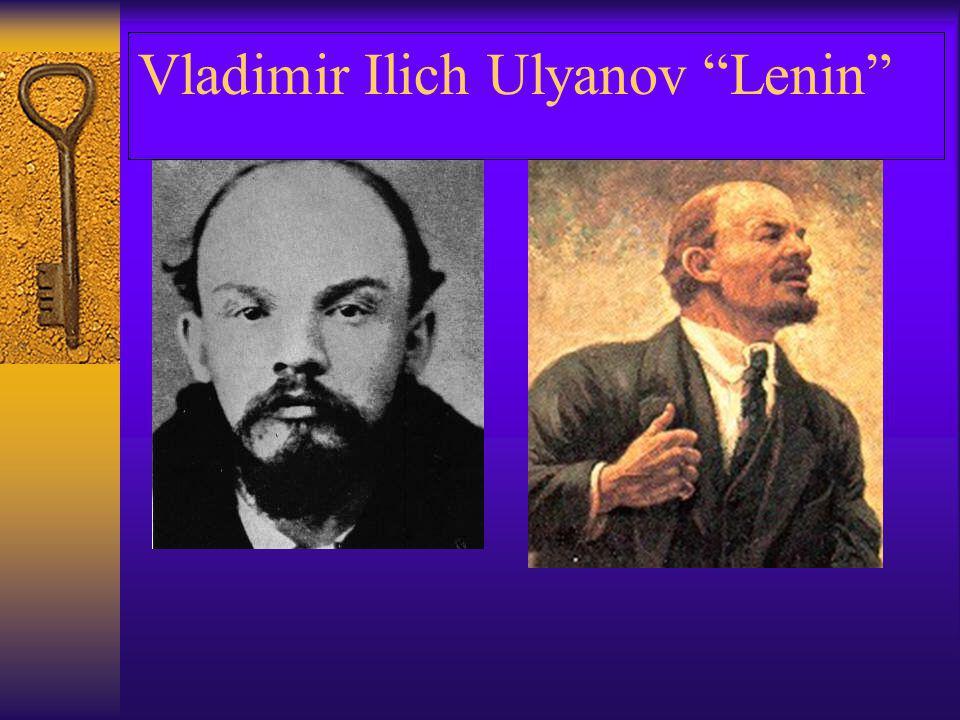 Vladimir Ilich Ulyanov Lenin
