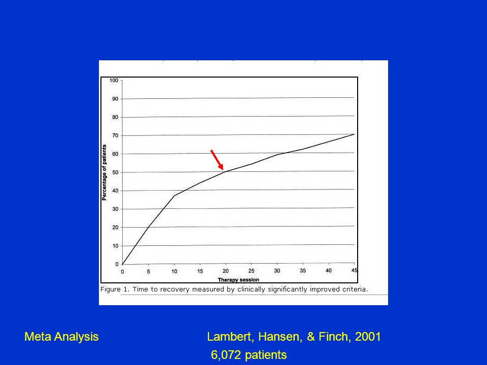 Lambert, Hansen, & Finch, 2001Meta Analysis 6,072 patients
