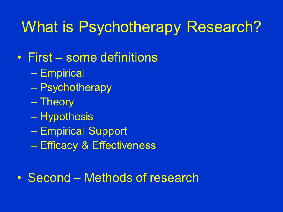 What is Psychotherapy Research.