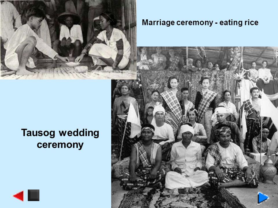Marriage ceremony - eating rice Tausog wedding ceremony