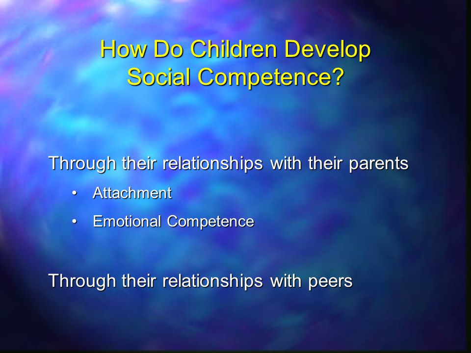 How Do Children Develop Social Competence.