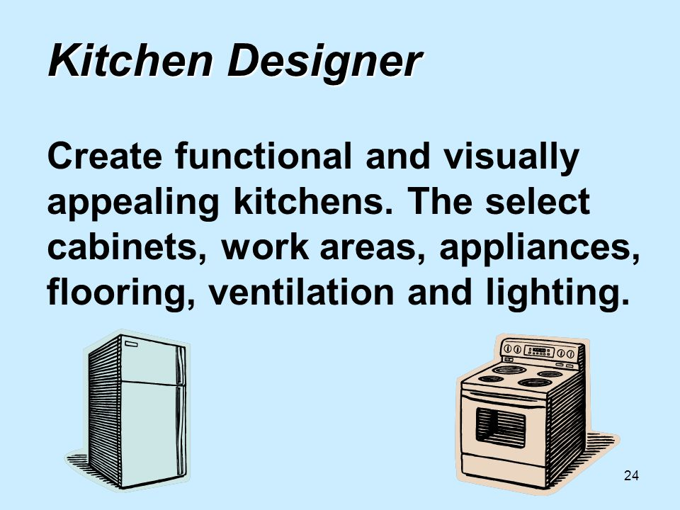 24 Kitchen Designer Kitchen Designer Create functional and visually appealing kitchens.