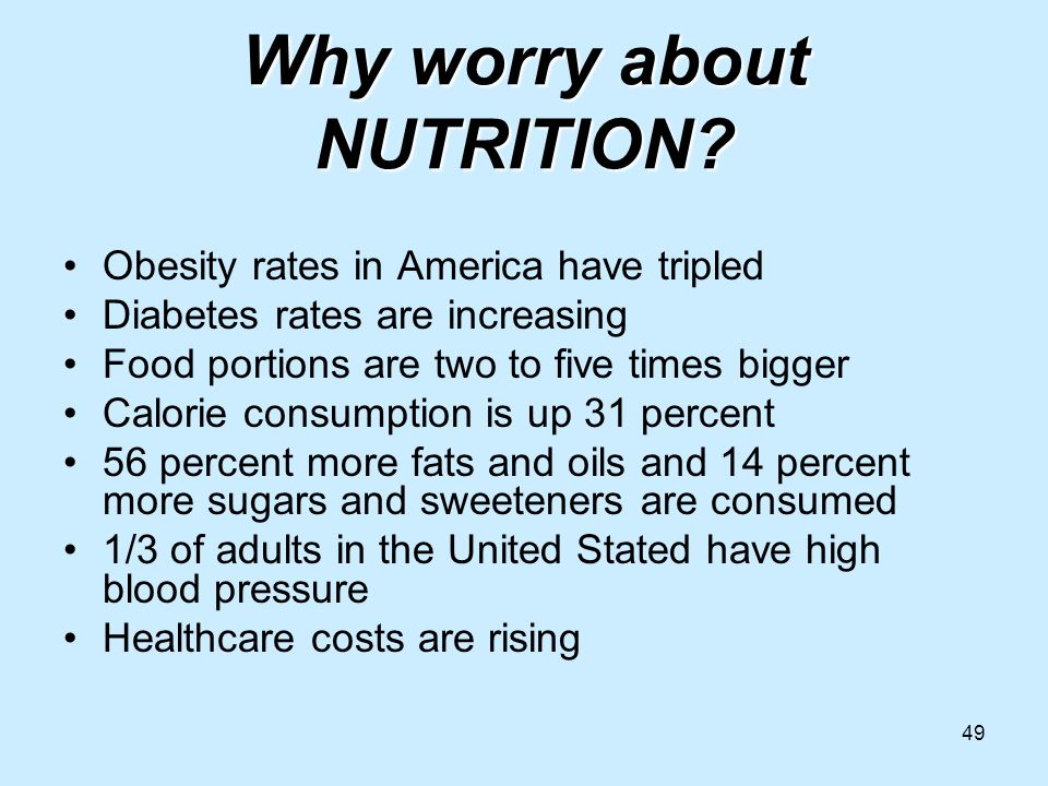 49 Why worry about NUTRITION.