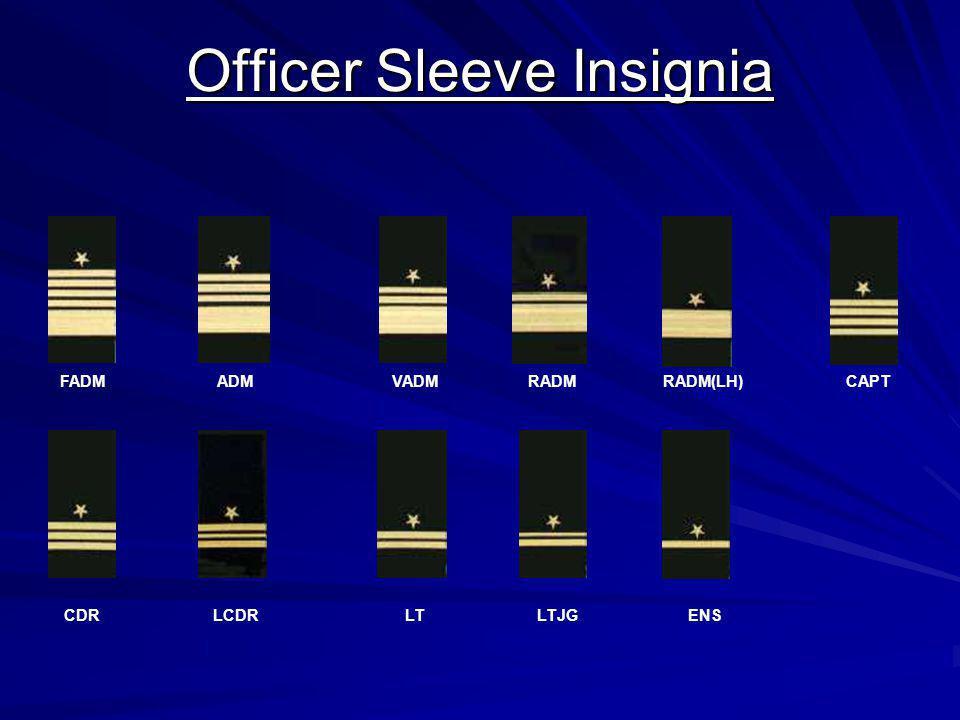 Officer Sleeve Insignia FADM ADMVADM RADM RADM(LH) CAPT CDR LCDR LT LTJG ENS