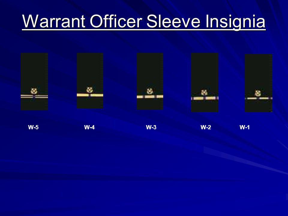 Warrant Officer Sleeve Insignia W-5 W-4 W-3 W-2 W-1