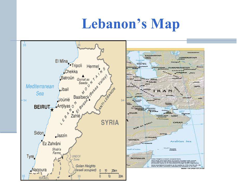 Lebanons Map