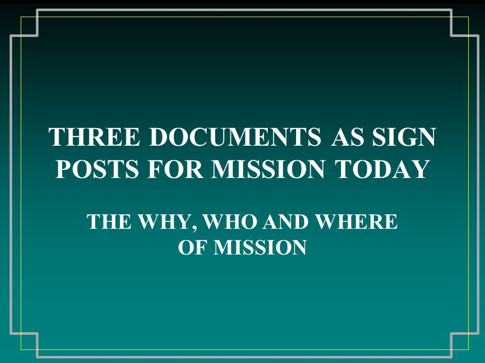 MISSION BEFORE VATICAN II: SAVING SOULS AND ESTABLISHING THE CHURCH Before Vatican II the first motivation for mission was the salvation of individuals through baptism.