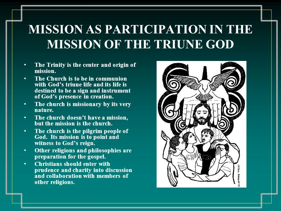 MISSION AS LIBERATING SERVICE OF THE REIGN OF GOD Pope Paul VI published On Evangelization in the Modern World where he anchors the mission of the church in the earthly mission of Jesus and his preaching of the kingdom or reign of God.