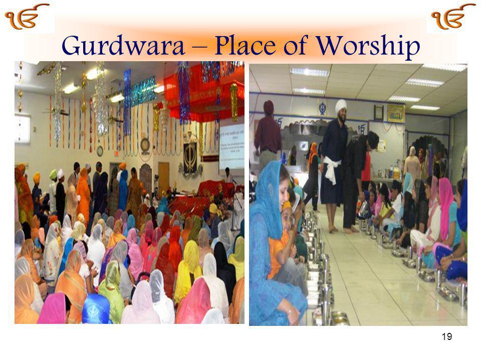 19 Gurdwara – Place of Worship