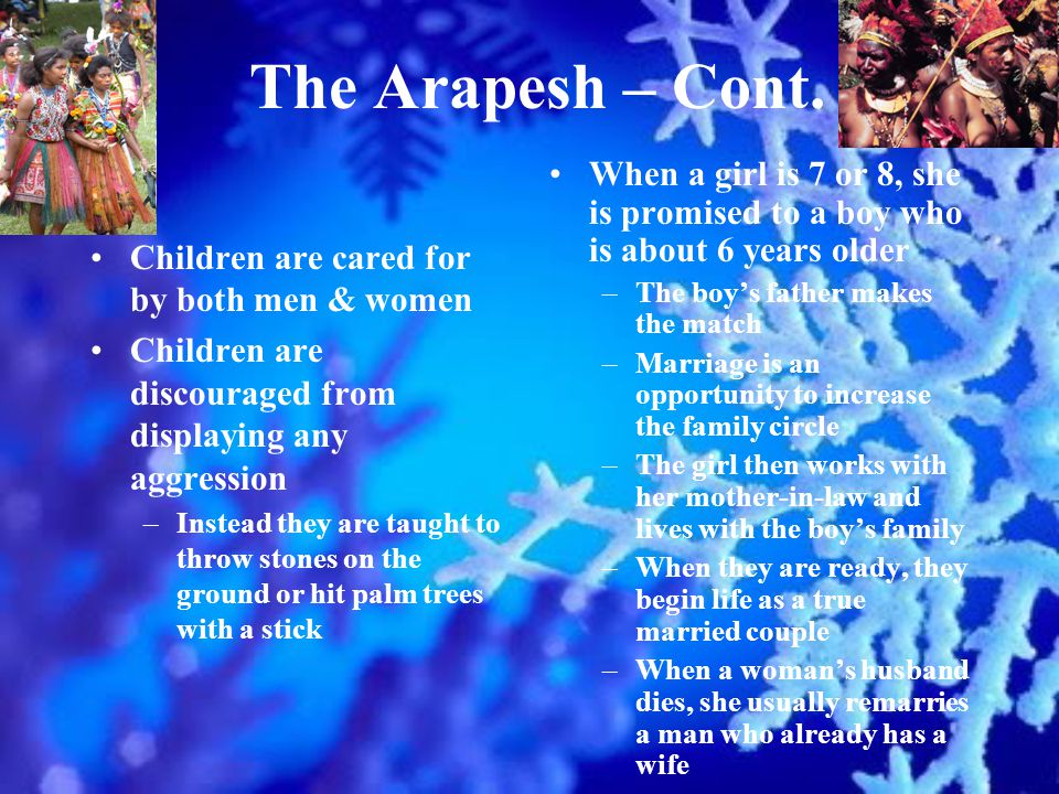 The Arapesh – Cont.