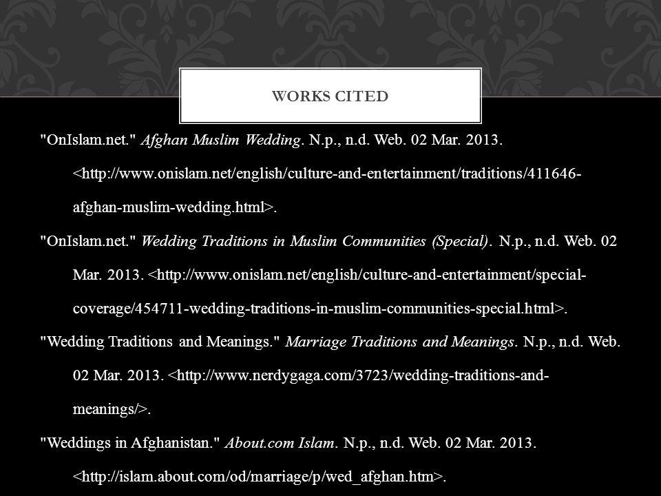 OnIslam.net. Afghan Muslim Wedding.N.p., n.d. Web.