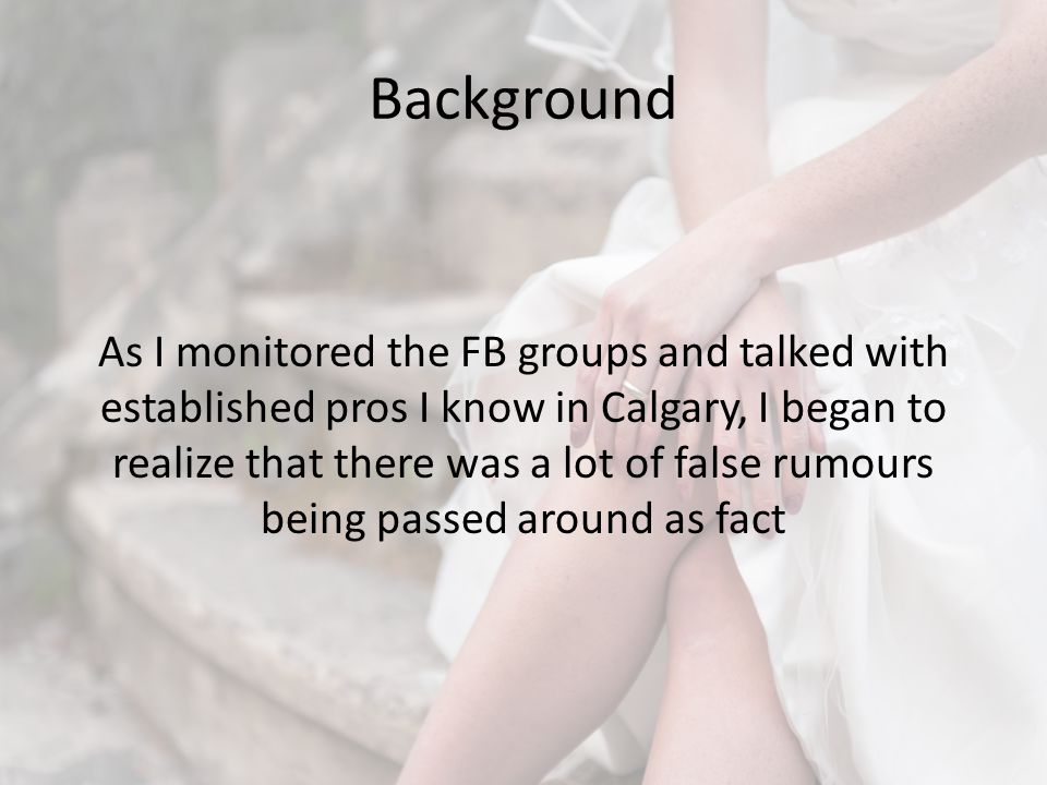Background This presentation summaries my findings after researching the topic.