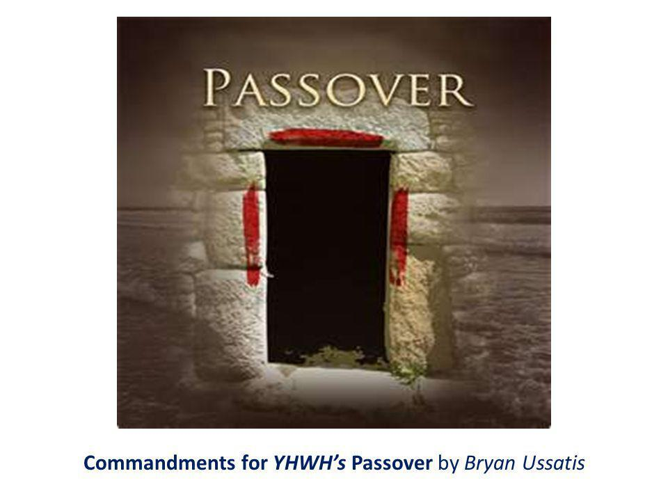 Commandments for YHWHs Passover by Bryan Ussatis