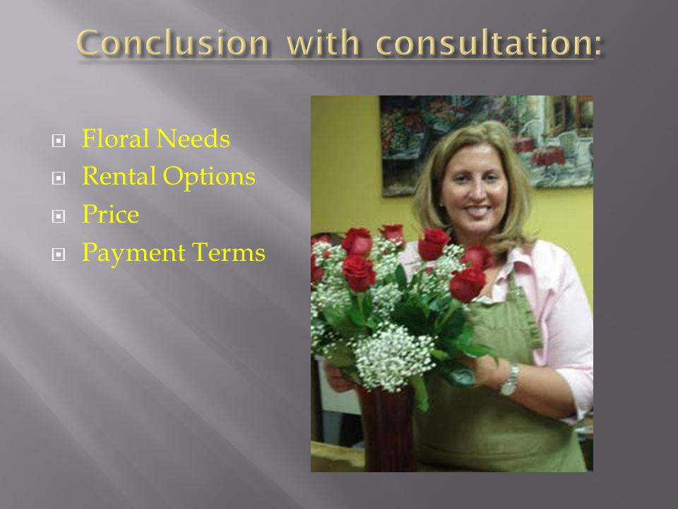 Floral Needs Rental Options Price Payment Terms