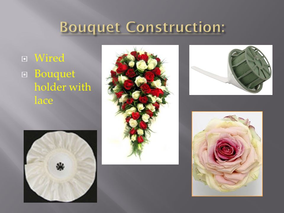 Wired Bouquet holder with lace