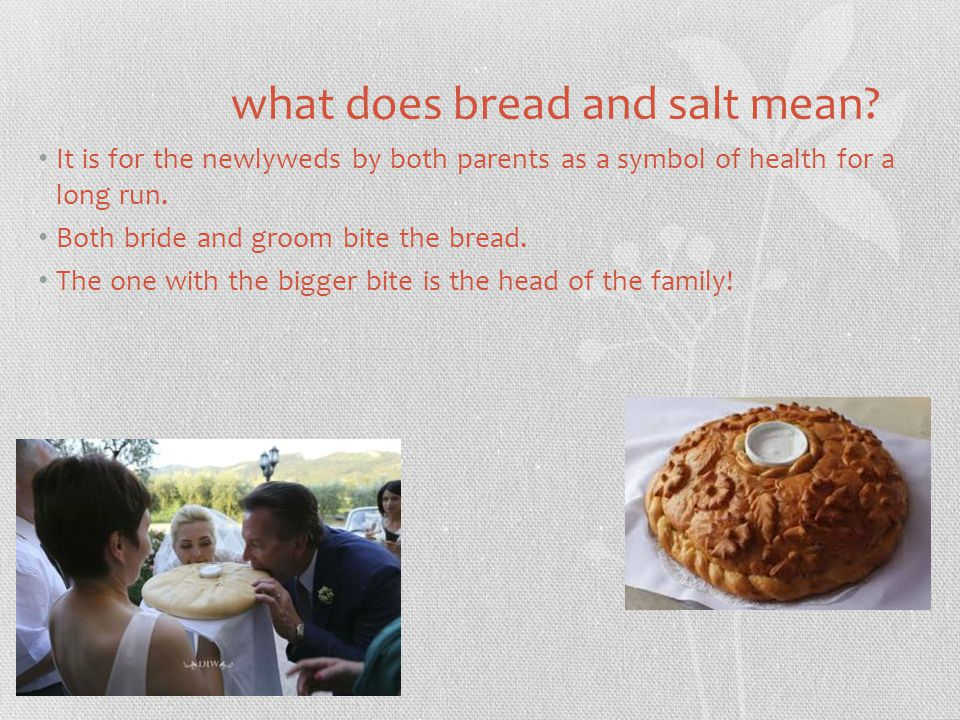 what does bread and salt mean.