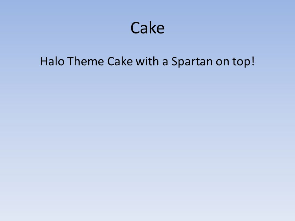 Cake Halo Theme Cake with a Spartan on top!