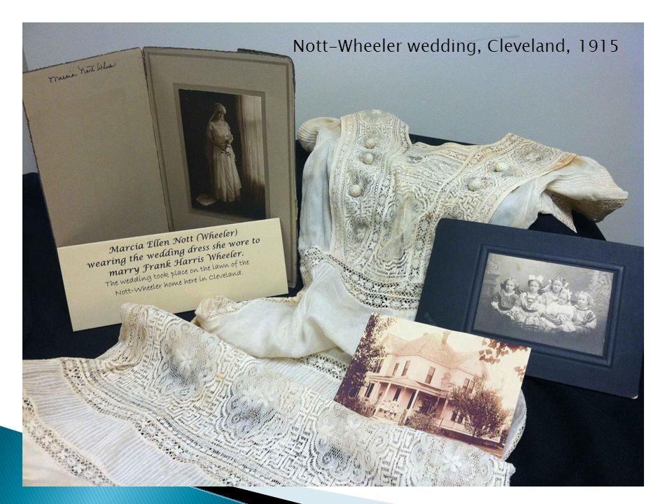 Nott-Wheeler photographs Nott-Wheeler wedding, Cleveland, 1915