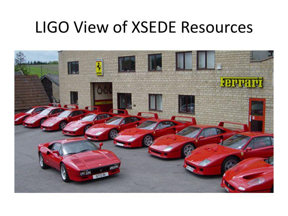 LIGO View of XSEDE Resources